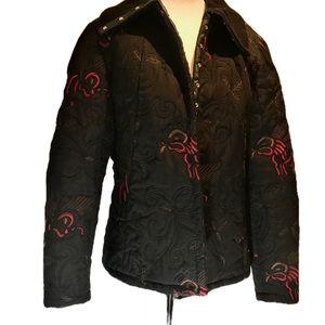 """""""VEX"""" Quilted Black Ladies Jacket ."""